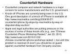 counterfeit hardware