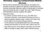 remotely zapping compromised mobile devices