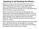 speaking of jail breaking the iphone