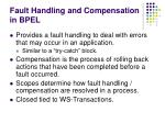 fault handling and compensation in bpel