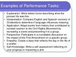 examples of performance tasks