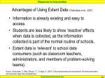 advantages of using extant data chafouleas et al 2007