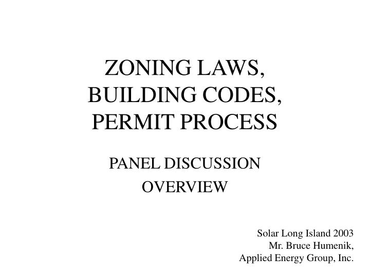 zoning laws building codes permit process n.