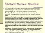 situational theories blanchard