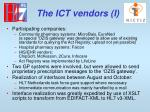 the ict vendors i
