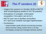 the it vendors ii