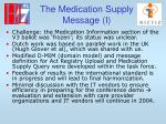 the medication supply message i
