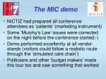 the mic demo