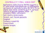 controlli p t per l anno 2007