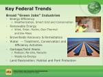 key federal trends