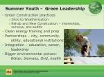 summer youth green leadership
