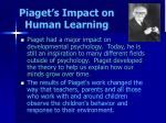 piaget s impact on human learning