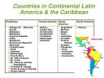 countries in continental latin america the caribbean