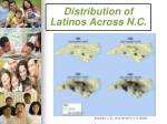 distribution of latinos across n c