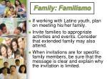 family familismo1