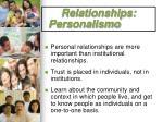relationships personalismo