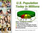 u s population today in millions