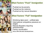 what factors push immigration