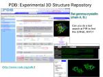 pdb experimental 3d structure repository