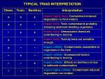 typical triad interpretation