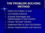 the problem solving method
