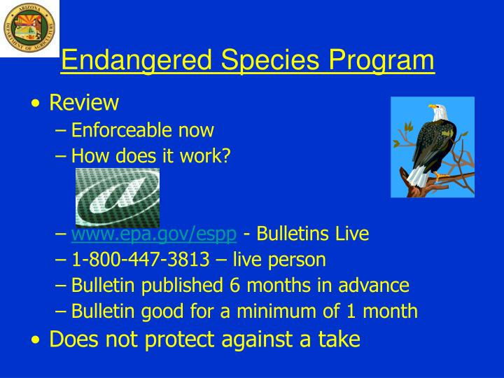 endangered species program n.