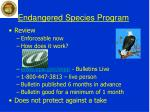 endangered species program