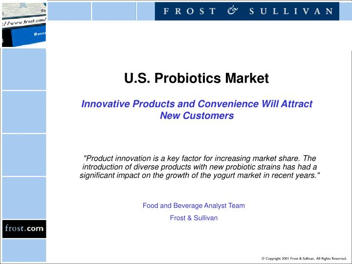 u s probiotics market innovative products and convenience will attract new customers n.