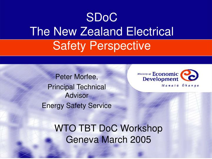 sdoc the new zealand electrical safety perspective n.