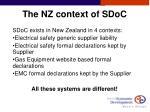 the nz context of sdoc