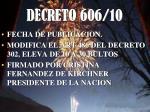 decreto 606 10