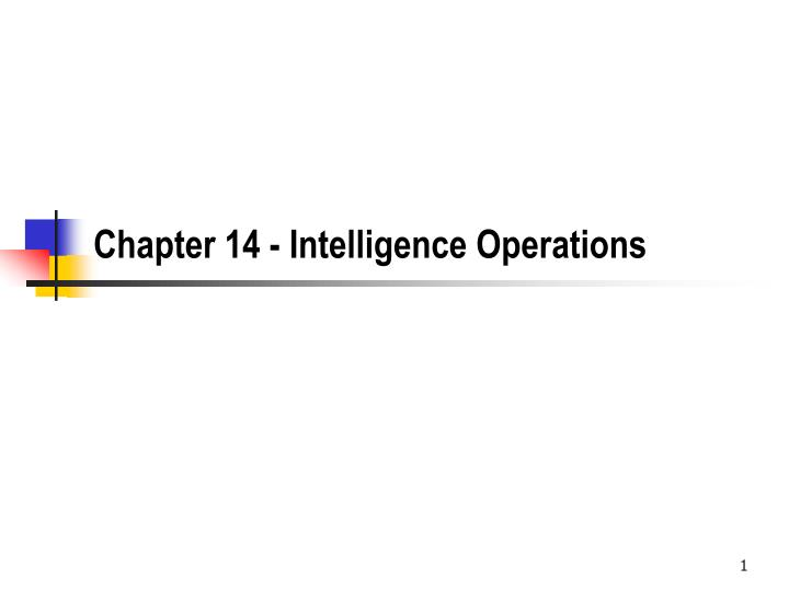 chapter 14 intelligence operations n.