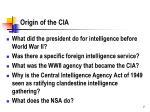 origin of the cia