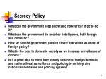 secrecy policy