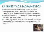 la ni ez y los sacramentos