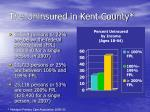 the uninsured in kent county
