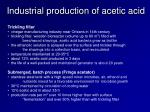 industrial production of acetic acid