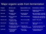 major organic acids from fermentation