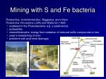 mining with s and fe bacteria