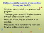 state preschool programs are spreading throughout the u s