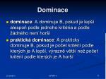 dominace