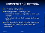 kompenza n metoda1