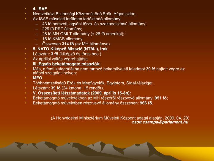 4. ISAF