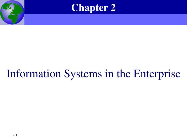information systems in the enterprise n.