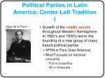 emergence of contemporary political parties in latin america center left tradition i