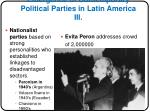 emergence of contemporary political parties in latin america iii