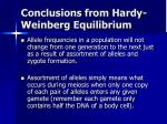 conclusions from hardy weinberg equilibrium