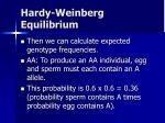 hardy weinberg equilibrium5
