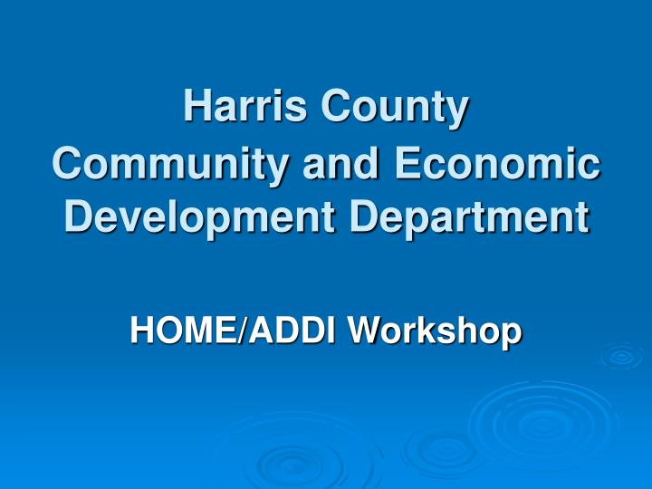 harris county community and economic development department n.