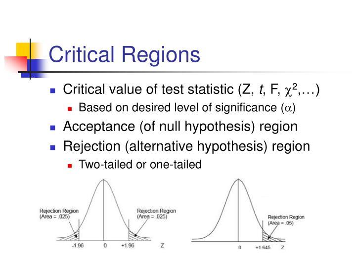Critical regions
